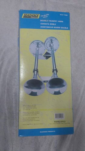 buzina de 2 cornetas inox elétrica 12 volts