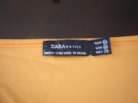 buzito zara anaranjado manga 3/4, cuello en v, divino!!!