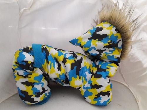 buzo abrigo para perro de camuflaje impermeable t/pequeña