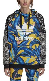 talla 40 7eff2 79b0e Buzo Anorak Adidas - Ropa Deportiva de Mujer Azul en Mercado ...