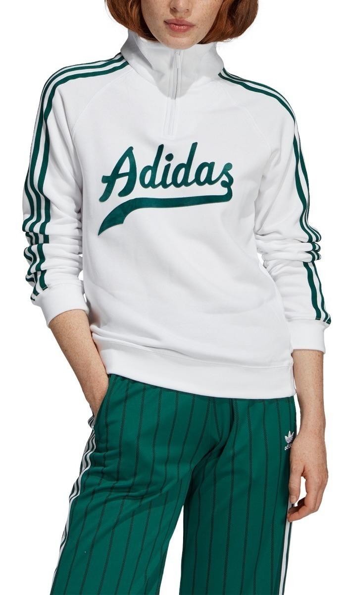 Buzo adidas Originals Sweater Bla/ver De Mujer