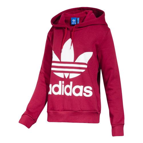 buzo adidas originals trefoil hoodie mujer cx0015