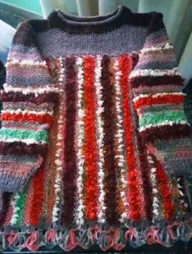 buzo artesanal en pura lana,prenda exclusiva!talle l o xl