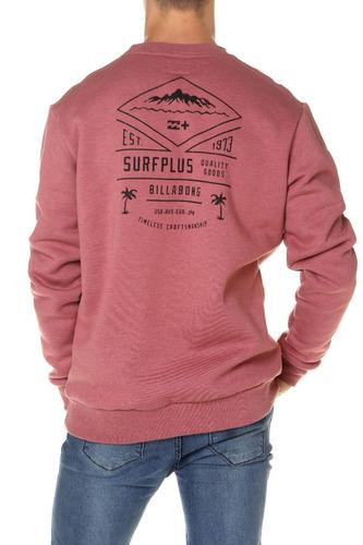 buzo billabong isla surfplus crew rojo hombre