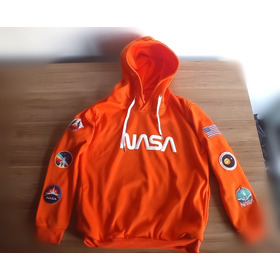 Buzo Buso Retrolive Hoodie Nasa Logo Planeta Espacio Rocket