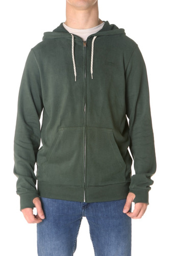 buzo campera billabong warrior zip hood verde hombre
