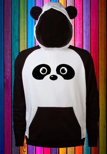 buzo cerrado hoodie oso panda personalizable para niñ@