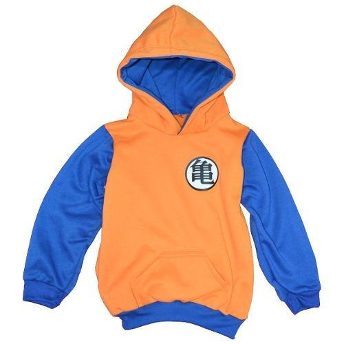 buzo con capota niños goku dragon ball z hoodie