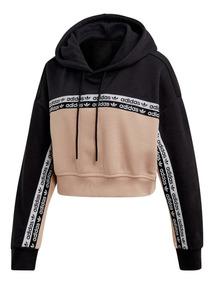 Buzo Corto adidas Originals Cropped Hoodie De Mujer