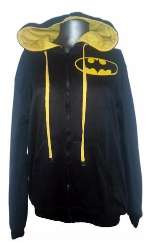 buzo cremallera hoodie super heroes dc comics batman niñ@s