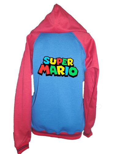 buzo cremallera hoodie super mario adulto envio gratis