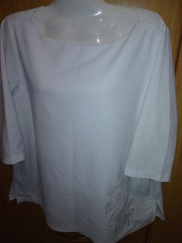 buzo dama blanco talle l/xl manga 3/4 nuevo