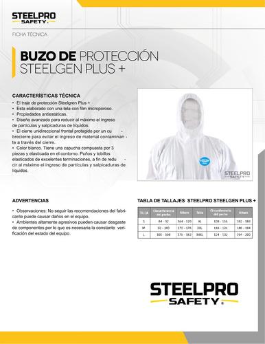 buzo descartable steelgen m-l-xl-xxl