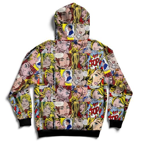 buzo diseño historieta pop hoodie full print de irarte