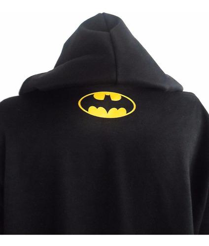 buzo hoodie capota super heroes dc comics batman niñ@s