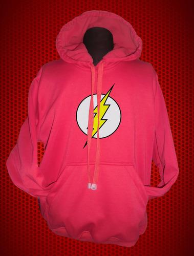 buzo hoodie capota super heroes dc comics flash niñ@s