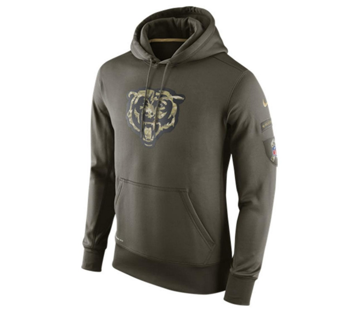 best website 38b60 ea983 Buzo Hoodie Chicago Bears Salute To Service Nike Talle S