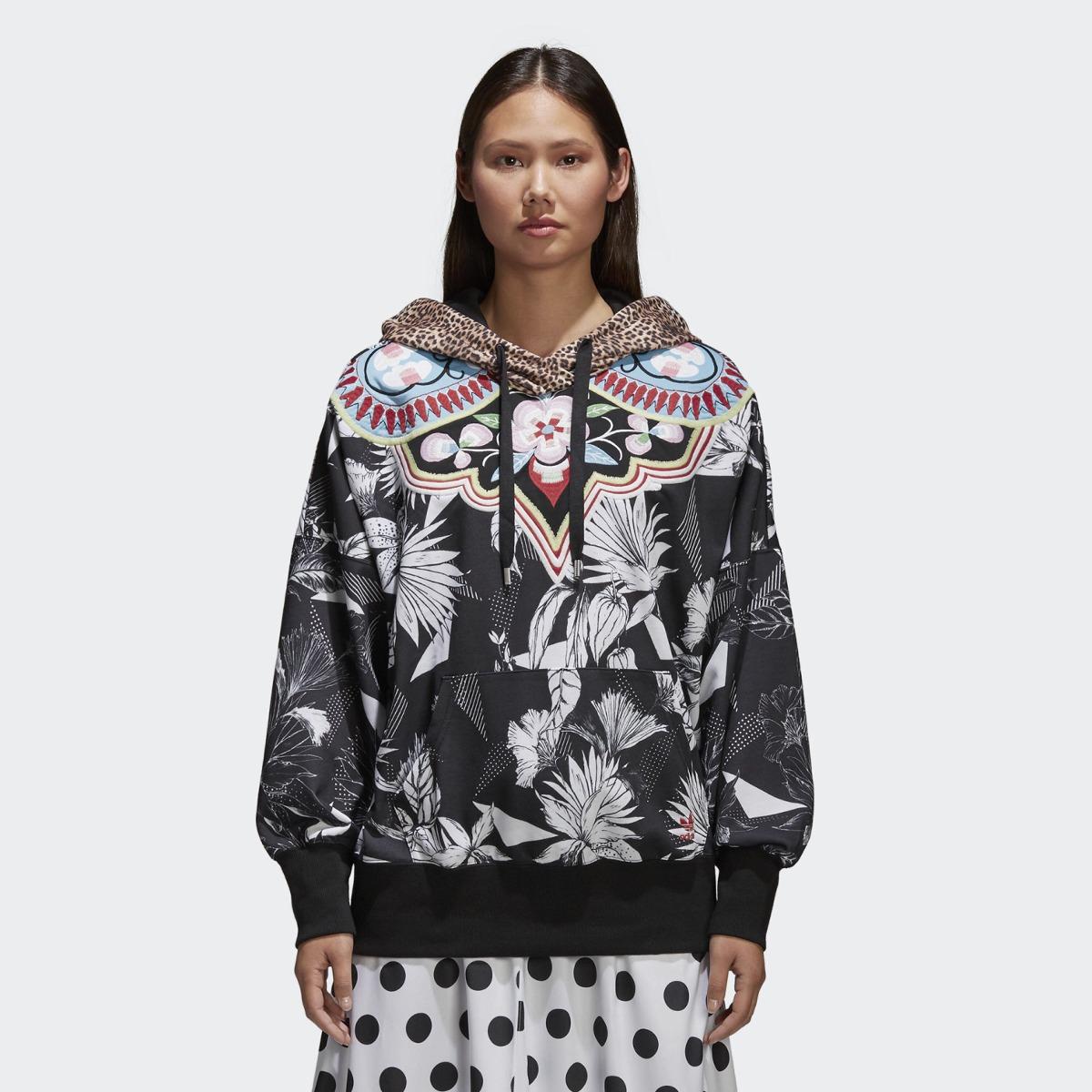 f57e236c03cbc Buzo Hoodie De Mujer Estampado Animal Print adidas Originals ...