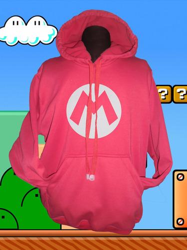buzo hoodie gamer mario bros niñ@s