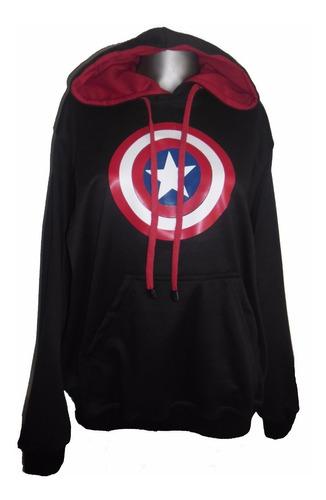 buzo hoodie heroes capitan america adulto