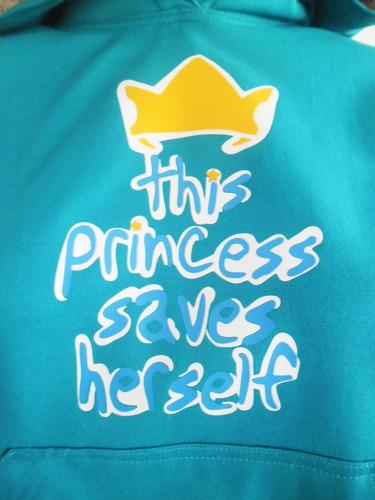 buzo hoodie modelo exclusivo princesas para niña