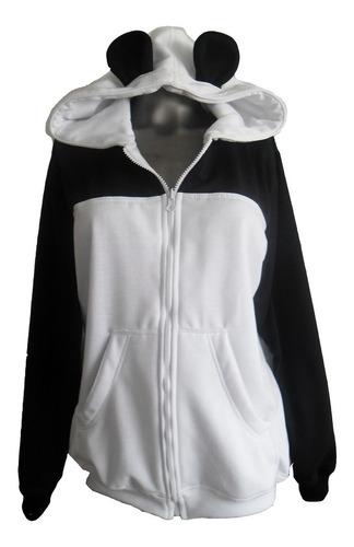 buzo hoodie oso panda abierto o cerrado adulto