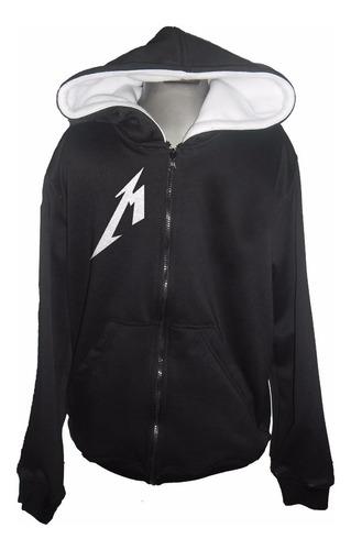 buzo hoodie personalizado metallica adulto