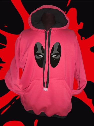 buzo hoodie super heroes marvel deadpool adulto envio gratis