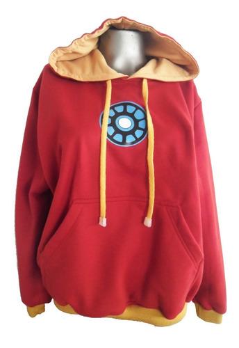 buzo hoodie super heroes marvel iron man niñ@s
