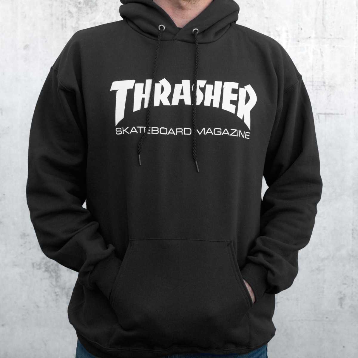 6b493f77cd10 buzo hoodie thrasher black flama - white - original. Cargando zoom.