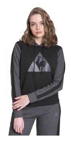 buzo logo negro mujer le coq sportif
