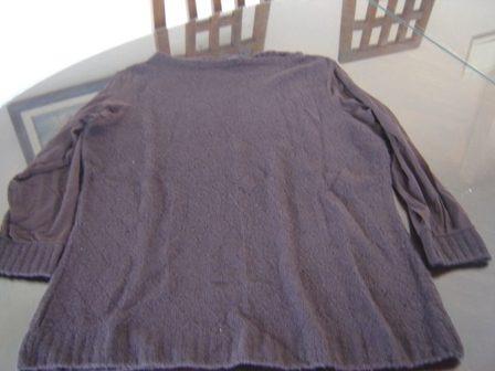 buzo marron algodon y nylon muy elegante talle l