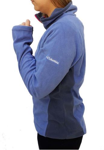 buzo micro polar columbia glacial fleece half zip mujer