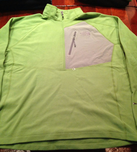 buzo micropolar the north face tech 1/2 zip - original usa