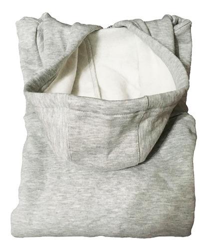 buzo moda logo capucha cw2097 gris hombre