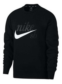 Buzo Nike Sb Negro Logo Blanco Cuello Redondo Original Nuevo