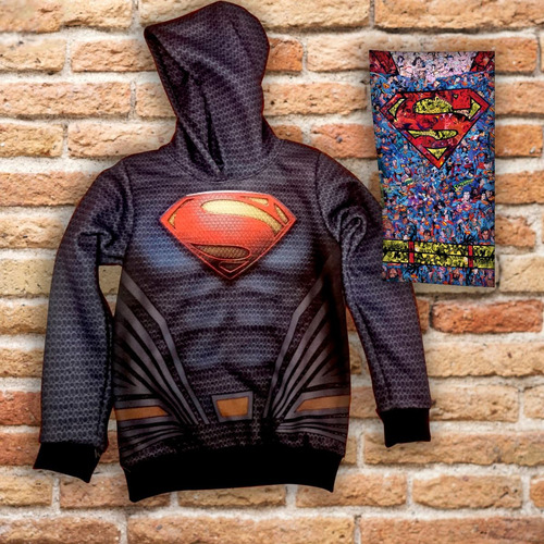 buzo niño superman + cuellito regalo