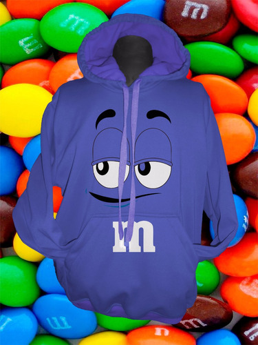 buzo personalizado hoodie m&m adulto