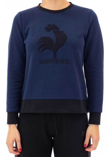 buzo rooster crew azul mujer le coq sportif