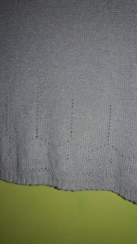 buzo sin mangas para dama en hilo tejido