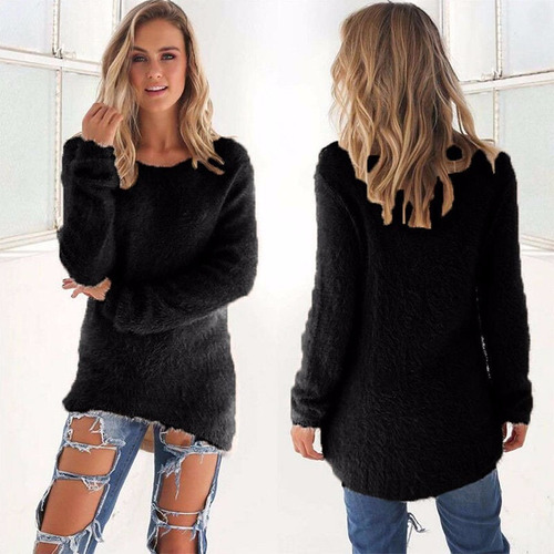 buzo suéter terciopelo fashion winter long sleeve loose muje