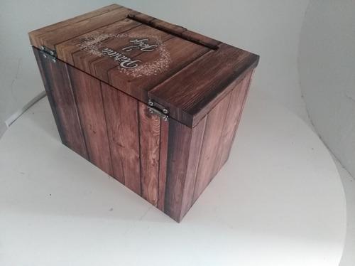 buzon de bodas para sobres o dinero. urna casamiento madera