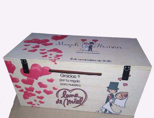 buzón de madera urna baul boda casamiento 15 años gigante