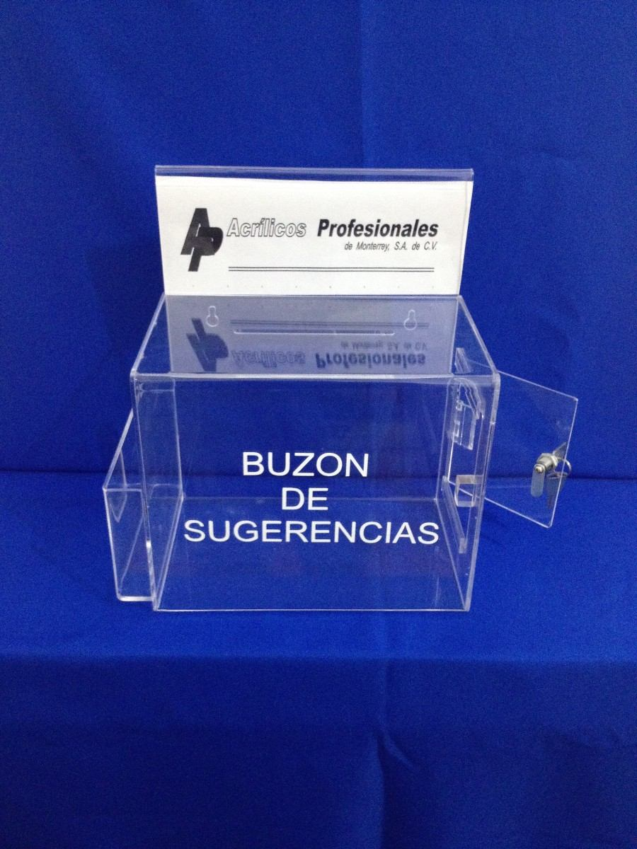 Buzon De Quejas Y Sugerencias En Acrilico - $ 586.00 en Mercado Libre