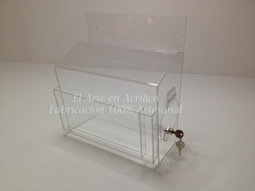 buzon de quejas y sugerencias fabricado en acrilico