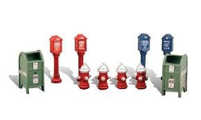 buzones e hidrantes / woodland scenics  esc. ho