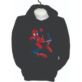 Buzos Hoodie Avengers Hombre Araña Marvel  Niños Y Adultos