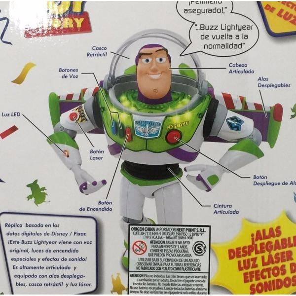 Buzz Lightyear 21 Frases Con Voz Original Español Luces