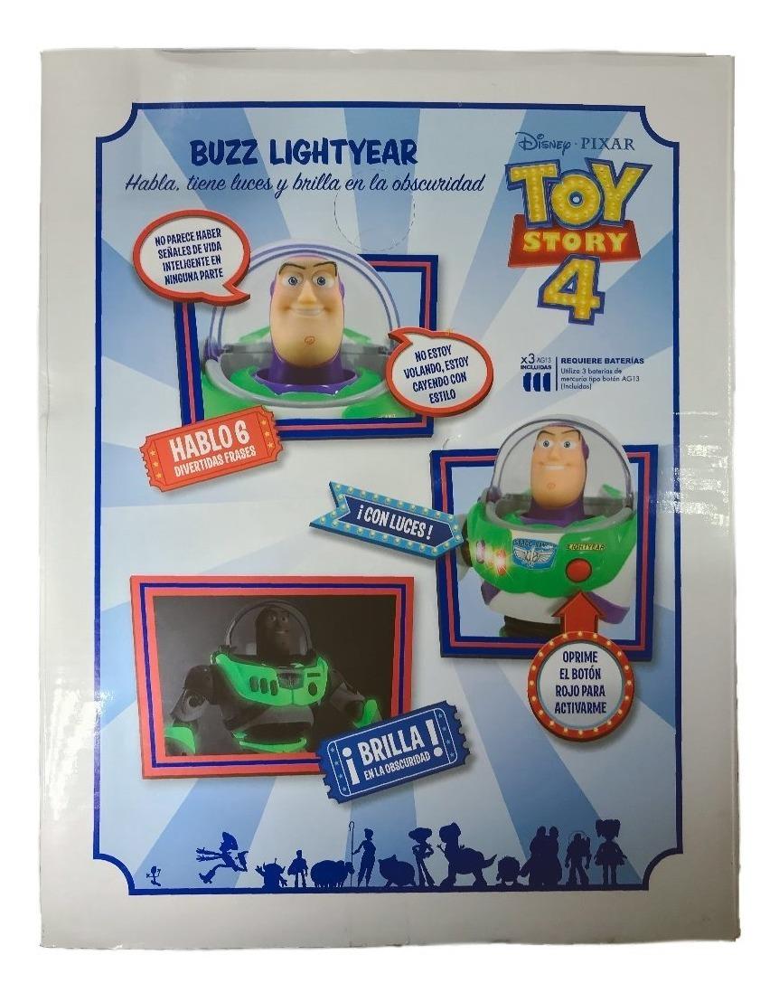 Buzz Lightyear 6 Frases Luz Brilla En Oscuridad Toy Story 4