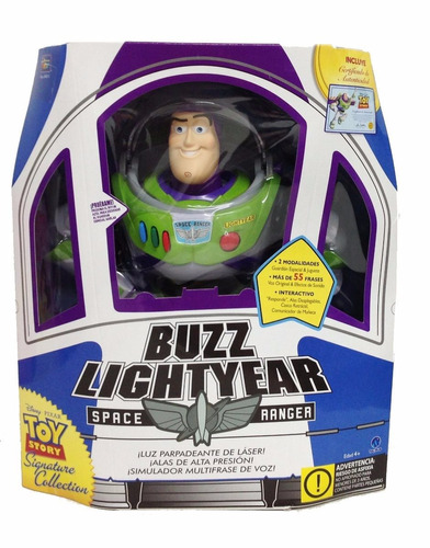 buzz lightyear toy story 55 frases interactivo disney orig